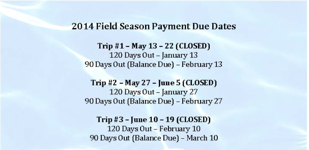 Intern Payment Due Dates
